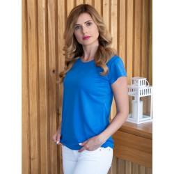 Koszulka niebieska damska