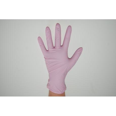 Rękawiczki NITRYLOWE różowe S