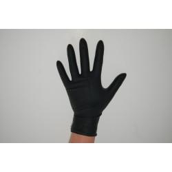Rękawiczki NITRYLOWE czarne M
