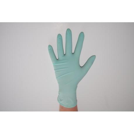 Rękawiczki NITRYLOWE miętowe S